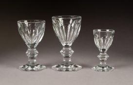 PART TABLE SERVICE OF SEVENTEEN BACCARAT DRINKING GLASSES, 'HARCOURT PATTERN?, comprising: claret, 5