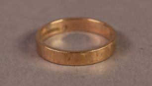 GENT'S 9ct GOLD BROAD WEDDING RING, Birmingham 1970, 2.5gms, ring size N