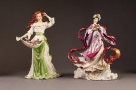 TWO FRANKLIN MINT CHINA FIGURES: ?MY WILD IRISH ROSE? CHINA FIGURE WITH MUSICAL INSERT TO THE