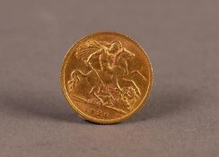 GEORGE V GOLD HALF SOVEREIGN, 1926, South Africa mint