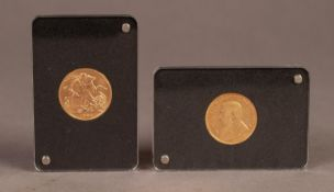 ROYAL MINT CASED SOUTH AFRICA ?FIRST AND LAST? TWO GOLD COIN SET, comprising; SOVEREIGN 1928 and