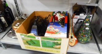HOOVER HAND HELD VACUUM CLEANER, BLACK AND DECKER DRILL, BRACE AND BIT, SWAN KETTLE AND VARIOUS