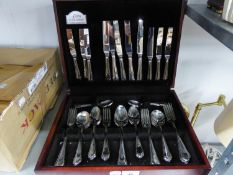 GEORGE BAXTER STAINLESS STEEL TABLE SERVICE OF CUTLERY FOR SIX PERSONS