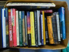 *A SMALL SELECTION OF BOOKS (1 BOX) AND VARIOUS PICTURES AND PRINTS