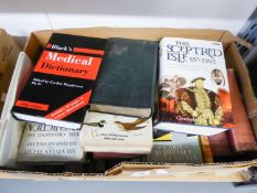 A SELECTION OF BOOKS - VARIOUS AUTHORS AND SUBJECTS (2 BOXES)