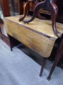 GEORGE III MAHOGANY PEMBROKE TABLE, WITH END DRAWER