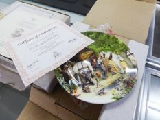 SET OF THIRTEEN ROYAL DOULTON 'IN CELEBRATION OF OLD COUNTRY CRAFTS' CHINA COLLECTORS PLATES,