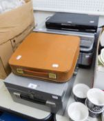 AN 'EMGEE' PORTABLE DUPLICATOR, A CANON PHOTOCOPIER, JVC VIDEO/DVD PLAYER, A HUMAX FREEVIEW+ BOX AND