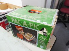 A LARGE FITTED PICNIC CASE AND A 'PAC-A-PIC' FOOD CONTAINERS SYSTEM (BOXED)