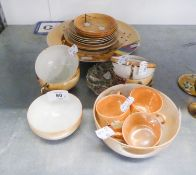 """CHINESE FAMILLE ROSE SAUCER DISH, 5 1/4"""" DIAMETER (CHIPPED), AND 18 PIECES OF JAPANESE EGG SHELL"""