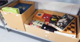 A QUANTITY OF BOARD GAMES, PLAYING CARDS, DRAUGHTS ETC......