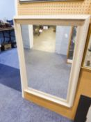 RECTANGULAR WALL MIRROR IN GREY CAVETTO FRAME