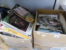 A LARGE QUANTITY OF 1950's/60's DRESS MAKERS PATTERNS, A QUANTITY OF EMBROIDERY MAGIC FOLDERS AND