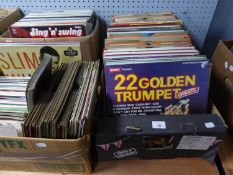 VINYL RECORDS. Bill Haley and his Comets- Rockin the Oldies, Brunswick, LAT 8219. Martin Denny-
