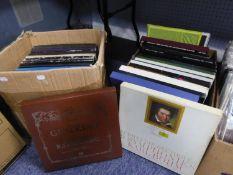 VINYL RECORDS, CLASSICAL. Walter Gieseking Volume 1, EMI, 10 lp box set. Bohm- Beethoven 9