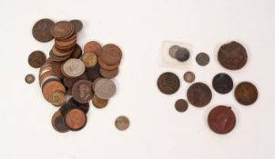 SELECTION OF GREAT BRITAIN 18th CENTURY AND LATER, MAINLY COPPER, COINAGE to include George III 1806