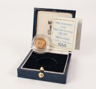 A BOXED AND ENCAPSULATED ROYAL MINT '500th Anniversary of the First Gold Sovereign 1489-1989'