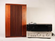 DENON PMA-700AE INTEGRATED AMPLIFIER, together with a YAMAHA KX-580 STEREO CASSETTE DECK, a PAIR