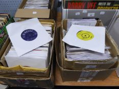 VINYL RECORDS SINGLES, EPS. A large collection of singles and EPs arranged in alphabetical order