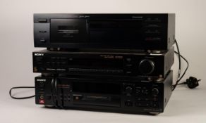 SONY MDS-JB930 MINIDISK DECK, together with a SONY ST-S570ES STEREO FM/AM TUNER and a YAMAHA KX580