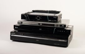 SONY RDR-HXD770 DVD RECORDER, together with a HUMAX HD-FOX T2 DIGITAL RECEIVER, a PHILIPS DVP 3005