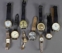 TEN VARIOUS, MOSTLY QUARTZ Ingersoll, Reflex, Record, Sekonda, Rotary and other gentleman's and