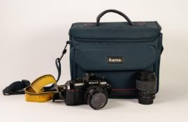 NIKON F-301 SLR ROLL FILM CAMERA, with NIKON NIKKOR 35-70mm f3.3-4.5 LENS, together with a 70-