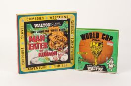A WALTON 8mm WORLD CUP FINAL 1966 FILM, in original card box, also WALTON 8mm FILM 'Man Eater of
