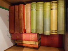 A GOOD SELECTION OF BOOKS TO INCLUDE; W.M. THACKERAY NOVELS, FAMILY PHYSICIAN, ETC... (CONTENTS OF 4