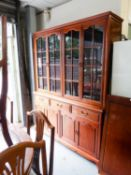 A MODERN  HONG KONG AQUIRED HARDWOOD CHINA DISPLAY CABINET