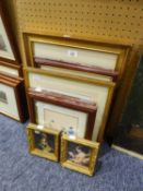 A SELECTION OF SMALL FRAMED AND GLAZED PRINTS (10)