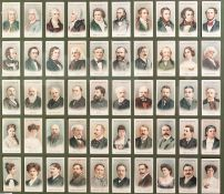 THREE FRAMED AND GLAZED SETS each of 50 John Payers and Wills Cigarette Cards respectively ""
