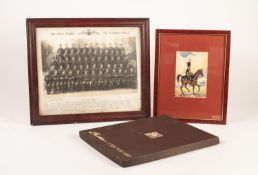 RAF AIR CREW CADETS No 4 RADIO SCHOOL GROUP PHOTOGRAPH, a CASHS COLLECTORS SILK of Jussar on