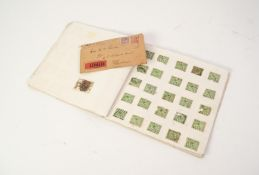 HOME-MADE ALBUM CONTAINING STAMPS OF GREAT BRITAIN
