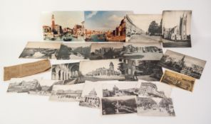 SET OF 7 EARLY 20th CENTURY BLACK AND WHITE PHOTOGRAPHIC POSTCARDS OF PARIS, 5 other old