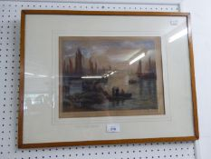 A COLOURED MEZZOTINT ENGRAVING, ?MORNING COAST, BRITTANY?, SIGNED AND A BLACK AND WHITE