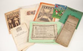 *MIXED LOT OF EPHEMERA, to include a copy of MANCHESTER FIGHTERS by Denis FLEMING, TRADE