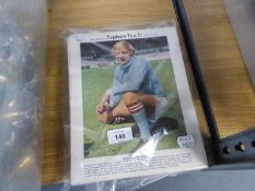 QUANTITY OF LARGE TYPHOO TEA INTERNATIONAL FOOTBALL STARS 1960's LARGE SIZE TEA CARDS