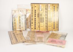 TEN 'O' GAUGE ETCHED BRASS KITS FOR COACHES AND WAGON BODIES, in original packaging, examples by