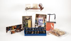 TWO BOXED SETS OF SEVEN SPASTON 'O' GAUGE DIECAST METAL PEOPLE, hand painted to include; guard,