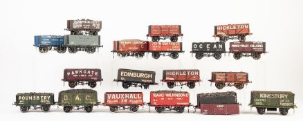NINETEEN MAINLY 'SLATERS PLASTICARD' AND 'THREE AITCH' MADE UP AND WELL PAINTED 'O' GAUGE MODELS