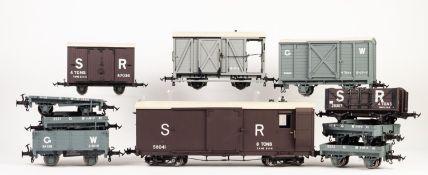 BRITISH MODEL SUPPLY (ACCUCRAFT) BOXED 'O' GAUGE LARGE SCALE W & L BRAKE VAN, LIGHT GREY, data