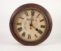 LATE 19th CENTURY OAK CASED CIRCULAR WALL CLOCK FOR MANCHESTER, SOUTH JUNCTION AND ALTRINCHAM