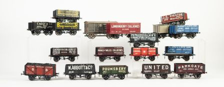 EIGHTEEN MAINLY 'SLATERS PLASTICARD' AND 'THREE AITCH' MADE UP AND WELL PAINTED 'O' GAUGE MODELS