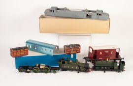GLADIATOR MODELS 'O' GAUGE KIT FOR AN L.M.S. 'STOVE' SIX WHEEL FULL BRAKE COACH, with pre-formed