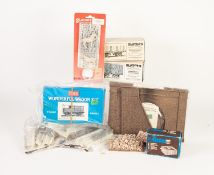 SELECTION OF PLASTICARD AND RATIO 'O' GAUGE PACKAGED PLASTIC ACCESSORIES AND KITS, together with