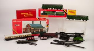 THREE 0-6-0 TANK LOCOMOTIVES moulded plastic by Wrenn, Hornby, Hornby Dublo and Triang, (varying