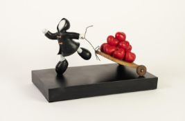 MACKENZIE THORPE (b.1956) LIMITED EDITION COLOURED RESIN GROUP?The Bringer of Love?, (131/195), no