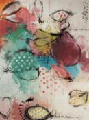 ANNIE RODRIGUE (TWENTIETH/ TWENTY FIRST CENTURY) MIXED MEDIA ON CANVAS ?Clignotant? Signed, titled