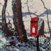 TIMMY MALLETT (b. 1955) ARTIST SIGNED LIMITED EDITION COLOUR PRINT ?Snowy Post Box?, (44/195),